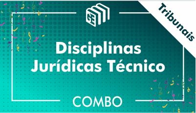 Disciplinas Jurídicas Técnico Tribunais - Combo