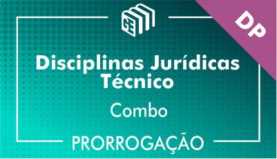 2019/2020 - Disciplinas Jurídicas Técnico DP - Combo - Prorrogação