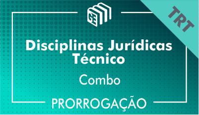2019/2020 -  Disciplinas Jurídicas Técnico TRT - Combo - Prorrogação