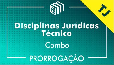 2019/2020 -  Disciplinas Jurídicas Técnico TJ - Combo - Prorrogação
