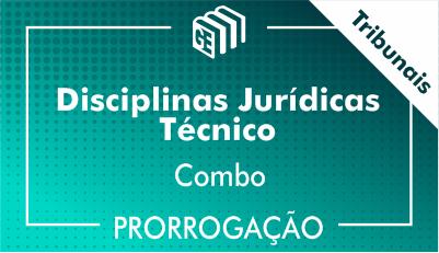 2019/2020 -  Disciplinas Jurídicas Técnico Tribunais - Combo - Prorrogação