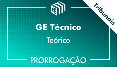 2019/2020 - GE Técnico Tribunais - Teórico - Prorrogação