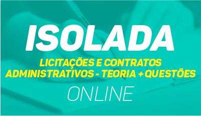 Licitações e Contratos Administrativos: Teoria + Questões - online
