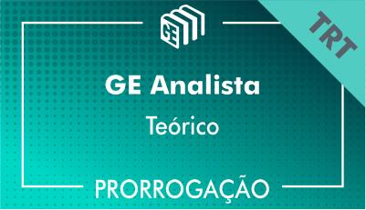 2019/2020 - GE Analista TRT - Teórico - Prorrogação