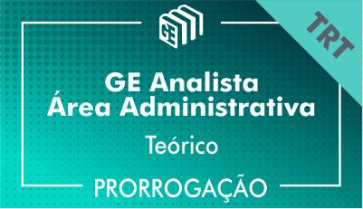 2019/2020 - Analista Administrativo TRT - Teórico - Prorrogação
