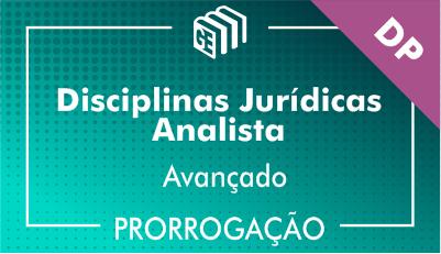 2019/2020 - Disciplinas Jurídicas Analista DP - Avançado - Prorrogação