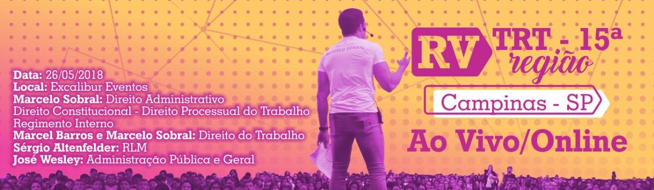 Banner-Revisão de Véspera TRT 15ª Região-Ao Vivo/Online