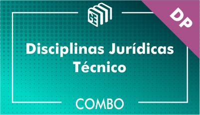 Disciplinas Jurídicas Técnico DP - Combo